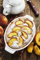 taart met perziken foto