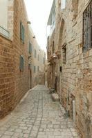typisch steegje in jaffa, tel aviv foto