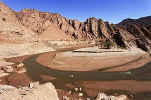 canyon troya (quebrada troya), la rioja, argentinië foto