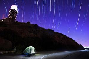 kamperen onder de sterrenhemel foto