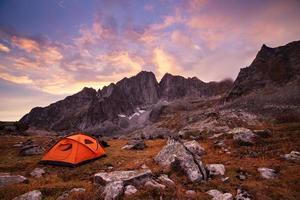 toeristische camping in de bergen foto