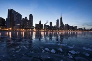 avond in Chicago, Gold Coast foto