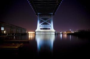 ben franklin bridge, philadelphia, pa foto