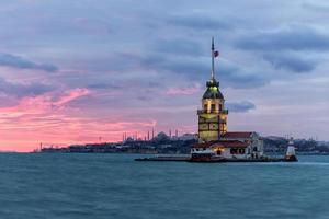 maiden's tower in istanbul, turkije foto