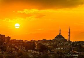 istanbul zonsondergang foto