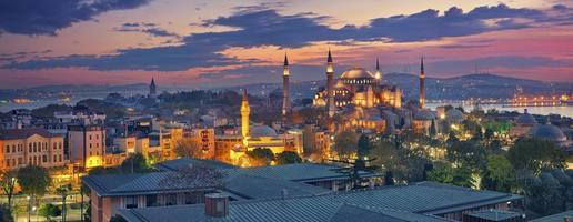 panorama van istanbul. foto