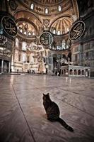 interieur van hagia sofia in istanbul foto