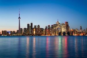 nachtscène van het centrum van Toronto foto