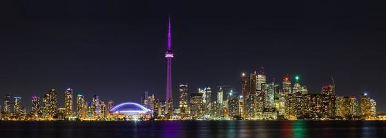 toronto nacht panoramisch foto