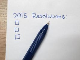 nieuwe jaar 2015 resolutie foto