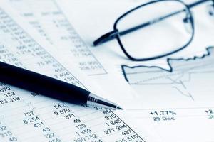 financiële rapporten foto