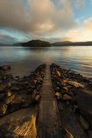 zonsopgang vanaf hawsbury rivier, nsw foto