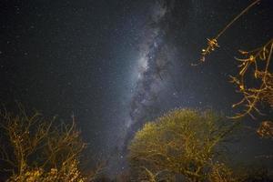 de magie van de nachtelijke hemel van namibië, foto