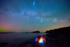 Melkweg en bruce schiereiland foto