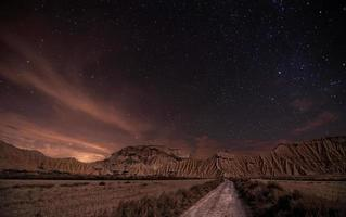 woestijn nacht foto