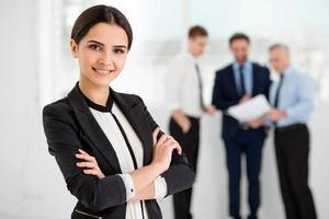 concept voor succesvol commercieel team foto