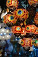 traditionele Turkse mozaïeklantaarns foto