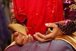 traditionele hennaceremonie voor bruiloft in Turkije foto