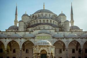 blauwe moskee, istanbul, turkije