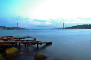 de Bosporus-brug / Istanbul / Turkije foto