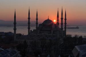sultan ahmet camii - blauwe moskee in istanbul, turkije. foto