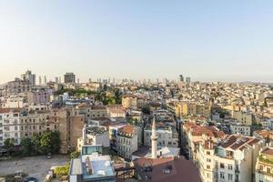 Luchtfoto van Istanbul bij zonsondergang foto
