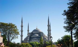 sultan ahmed blauwe moskee, istanbul turkije foto