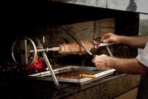 Döner kebab met kookplaat
