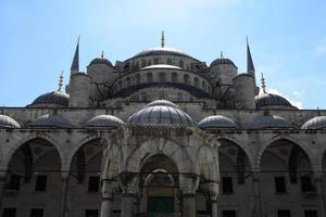 fragment van blauwe moskee foto