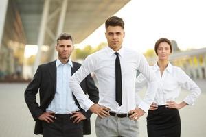 groep van mensen uit het bedrijfsleven. foto