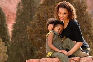 moeder & kind foto