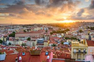 Lissabon zonsondergang foto