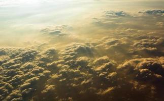 wolk zonsondergang foto
