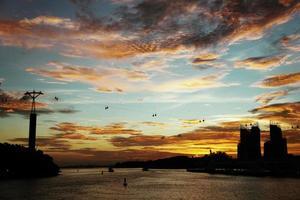 zonsondergang singapore foto