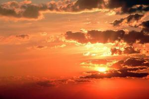 tijdens zonsondergang foto