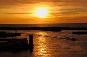 danshui's zonsondergang foto