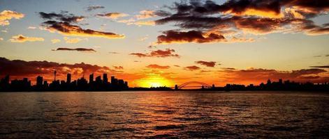 zonsondergang @ Sydney foto
