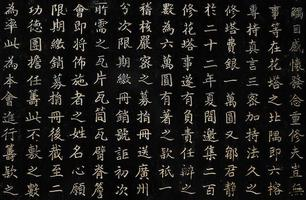 Chinese karakters, Guangzhou foto