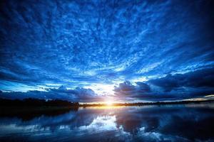 de zonsondergang foto