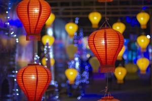 Aziatische lantaarns in lantaarnfestival foto