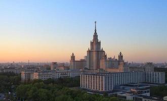 lomonosov de staatsuniversiteit van moskou foto