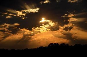 land zonsondergang