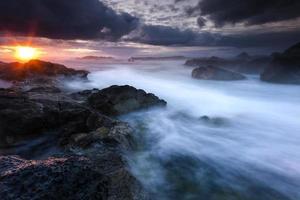 oceanische zonsondergang foto