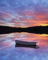 zonsondergang boot foto