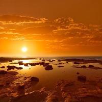 majorca zonsondergang es trenc strand in campos