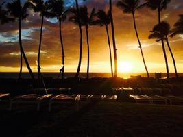 Maui zonsondergang foto