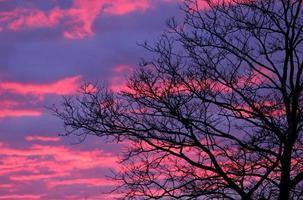 zonsondergang kleuren foto
