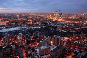 de skyline van Moskou