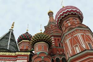 Moskou. Sint-Basiliuskathedraal. foto
