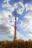tv-toren in Moskou. foto